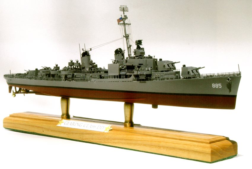 Model kit reviews how to scale modeling and scale modeling products - 1 350 Scale Gearing Class Destroyer Finescale Modeler