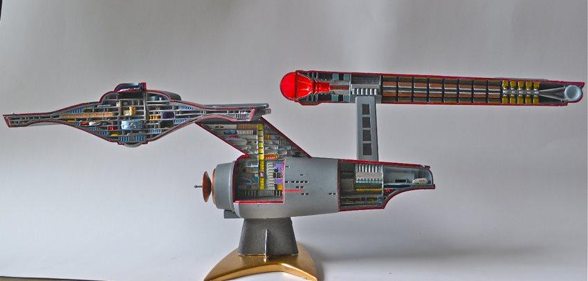 star trek uss enterprise cutaway february 2013 finescale